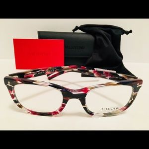 Valentino Eyeglasses VA3010 5039 Black Red Spotted